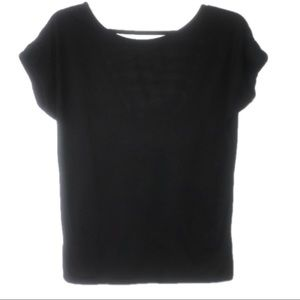 Tops - 2 for $10 Black Open Back Tee